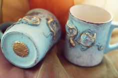 Unique handmade creations mug - side of the mug can be written
