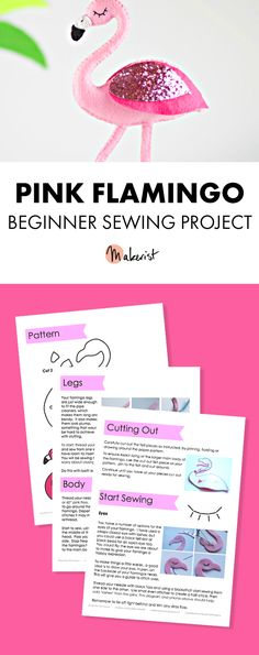 Pink Flamingo - Sewing Pattern via Makerist.com  #sewingwithmakerist #sew #sewing  #sewkindofwonderful #sewingpattern #sewinginspiration #diy #handmade #homemade #sewingprojects #sewingtutorial  #easter #flamingoparty