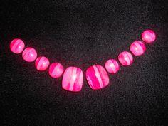 Order Reusable Press on Toenails Bubble Toes Nailhur Kiss Glue Dots Easy On Easy Off False Fake Nails Holiday Polish PINK Stripe Colors by Pressontoenails on Etsy