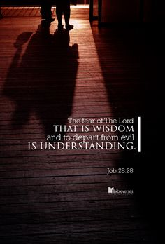 And unto man he said, Behold, the fear of the Lord, that is wisdom; and to depart from evil is understanding. Scripture Verses, Scriptures, Book Of Job, Job Quotes, Bible Images, Salt Of The Earth, Inspirational Memes, Fear Of The Lord, Jesus Loves Me