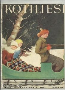 Kotiliesi coer by Rudolf Koivu Newspaper Cover, Vintage Christmas Cards, Christmas Wishes, Christmas Time, Different Kinds Of Art, Art Deco Posters, Children's Book Illustration, Book Illustrations, Indigenous Art