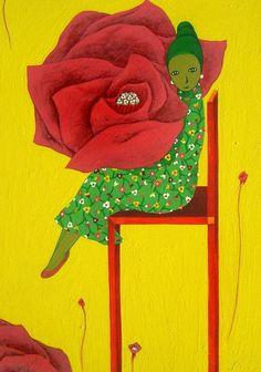 나쁜꽃밭 Bad a Flower Garden Graphic Illustration, Illustrations, Naive Art, Yearning, Drawing Techniques, Medium Art, Figure Drawing, Background Patterns, Beautiful Day