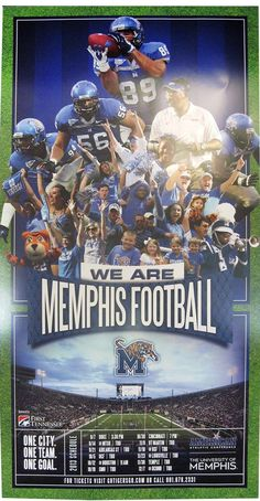 The 2013 University of Memphis Tigers football schedule posters are now available!
