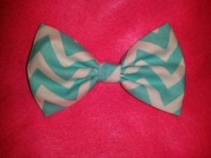 Check out this item in my Etsy shop https://www.etsy.com/listing/238687097/turquoise-chevron-fabric-bow-with-a