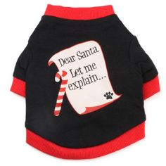 Haogo Pet Puppy Shirt Santa Letters Printed Vest T shirt Christmas Costume for Small Dog Pet Black >>> Hurry! Check out this great product (This is an amazon affiliate link. I may earn commission from it)