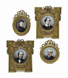 A SET OF FOUR GILT-METAL FRAMED PORCELAIN MINIATURES, | LATE 19TH CENTURY, Christie's