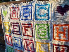 Alphabet Block Afghan