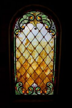 amber Stained Glass Window
