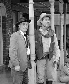 Gunsmoke photo 123 Milburn Stone and Ken Curtis Milburn Stone, Ken Curtis, Gary Clark, Matt Dillon, Miss Kitty, Tv Westerns, Western Movies, Vintage Tv, Classic Hollywood
