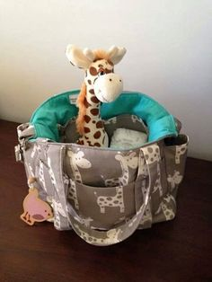 Giraffe Nappy Bag New Large Sizer XL Diaper Bag with Removable Stroller Straps by MishmashDesigns on Etsy Cute Diaper Bags, Best Diaper Bag, Giraffe Fabric, Giraffe Print, Baby Needs, Baby Love, Little Babies, Cute Babies, Baby Shower Gifts