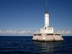 lighthouses+in+michigan   Gray's Reef Lighthouse , photo by AdamMI88 .