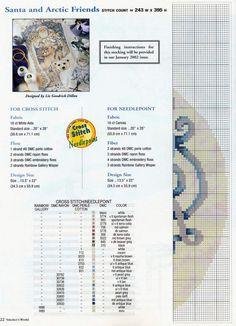 Schema punto croce Calza Babbonatale 21j