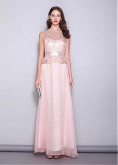 b87548d2d53 Fascinating Chiffon   Lace Bateau Neckline A-line Evening Dresses Prom  Dresses 2019. Custom Made ...
