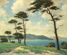 Dedrick B. Stuber (American, 1878-1954) Near Monterey oil on canvas 25 x 30 in