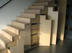 Vestiairekast op maat onder de trap placard vestiaire sous escalier sur mes - Escalier de rangement ...