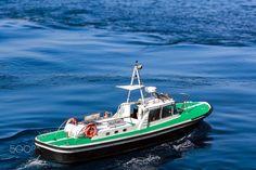 "Pilot boat in Bastia - The pilot boat of Bastia called the ""Pilotine""."