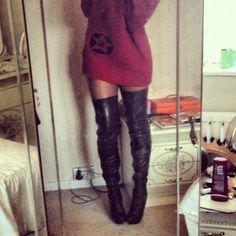 ROMEO'S FASHON FIX.: DIY thigh high boots