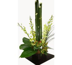 arreglos florales con bambu | Centros de mesa