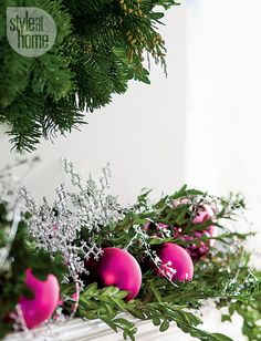 Fuchsia & green instead of traditional red & green for #christmas