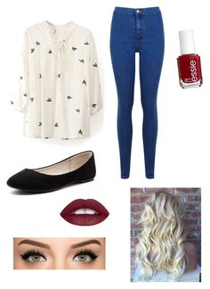 """""""Spring"""" by lulu-bell-7298 on Polyvore featuring Miss Selfridge, Verali, Essie, women's clothing, women, female, woman, misses and juniors"""