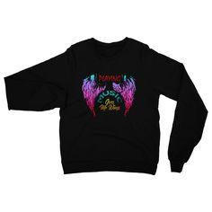 Rock Legend Angel Wings Heavy Blend Crew Neck Sweatshirt