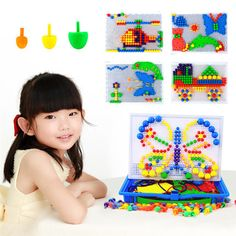 296pcs Creative Mosaic Toy Gifts Children Nail Composite Picture Puzzle Creative Mosaic Mushroom Nail Kit Puzzle Toys #>=#>=#>=#>=#> Click on the pin to check out discount price, color, size, shipping, etc. Save and like it!