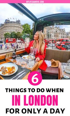 Only have one day in London but want to experience all the trendiest things to do? I totally understand which is why I have compiled a list of the 6 best things to do in London when you only have a day to spend there. One Day In London, Day Trips From London, Things To Do In London, Europe Weather, Travel Guides, Travel Tips, Sightseeing Bus, Travel Movies, Europe On A Budget