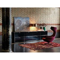 usm haller credenza metal angles lift up for additional storage space behind usm. Black Bedroom Furniture Sets. Home Design Ideas