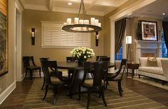Expandable Large Round Dining Room Tables with Chairs: Classy Large Round Dining Room Tables Cherry Hard Wood Design ~ enjoyf.com Dining Room Designs Inspiration