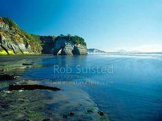 Beach at Tongaporutu, North Taranaki, New Plymouth District, Taranaki Region, New Zealand (NZ). Stock photo from New Zealand (NZ). Photos and Stock Photography by Rob Suisted