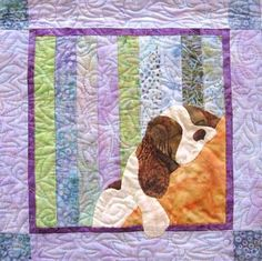 Spaniel quilt pattern by Karen Brow at Java House Quilts.   Quilts