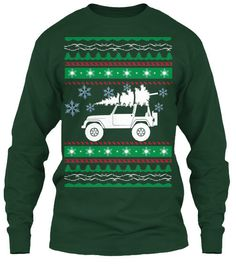 Jeep ugly Christmas sweater