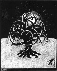 Twon Tree - M.C. Escher, 1919