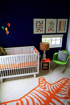 Modern Navy Blue Nursery