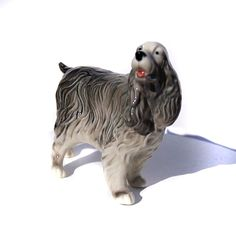 Spaniel Porcelain figurine dog realistic High-quality Video preview by GlassFigurinesStudio on Etsy
