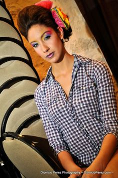 Hairstyling By:  Becky Mireles - Owner of Violette Papillon for the  Fiesta Fierce Fashion Parade
