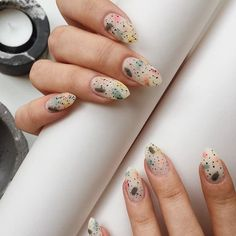 Nail art Christmas - the festive spirit on the nails. Over 70 creative ideas and tutorials - My Nails Spring Nail Art, Spring Nails, Summer Nails, Minimalist Nails, Minimalist Interior, Cute Nails, Pretty Nails, Hair And Nails, My Nails