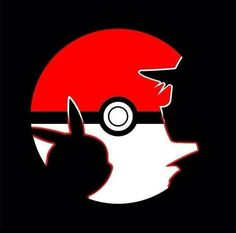 Pokéball, Ash and Pikachu silhouette. Pokemon. #anime