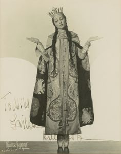 Photograph of Irina Baronova as The Queen of Shemakhan in Le Coq D'Or, c.1930s…