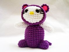 Crochet Hello Kitty In Mouse Costume #howto #tutorial