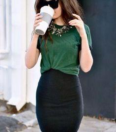 Plain tshirt mini skirt