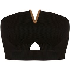 Get ready for the party season with this Miss Selfridge Bandeau Crop Top. Cut to a bandeau shape, this top has been designed as a strapless shape with a metall… Strapless Crop Top, Bralette Crop Top, Crop Shirt, Bandeau Tops, Going Out Crop Tops, Party Crop Tops, Bon Look, Black Bandeau, Tumblr Outfits
