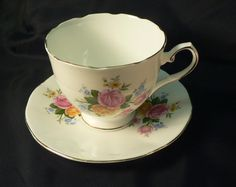 Elizabethan Fine Bone China Cup and Saucer with by Cupsofthepast, $14.95