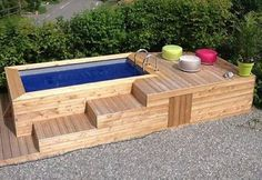 Build your hot tub, spa or exercise pool. Get instant access to detailed information on how to build your own hot tub, spa or exercise pool today! Small Inground Pool, Diy Swimming Pool, Building A Swimming Pool, Diy Pool, Small Backyard Pools, Small Pools, Pool Decks, Indoor Swimming, Piscina Diy