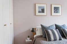 Before & After: See Which Colour Katy Painted Her Bedroom - Farrow & Ball Peignoir, No. 286 | Apartment Therapy