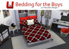 The Sims 4 | unobservantsims 12 'masculine' OM double mattress recolors + Severinka pillows | buy mode new room objects