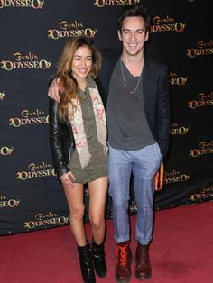Jonathan Rhys Meyers and Maya Lane at the premiere of Cavalia's Odysseo on February 6, 2016...