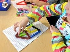 Use a sheet of centimeter graph paper as a math mat for Cuisenaire rods. - The Brown-Bag Teacher: Using Cuisenaire Rods