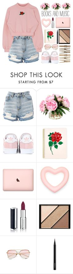 """#528 Subdued"" by mayblooms ❤ liked on Polyvore featuring Topshop, adidas Originals, ban.do, Givenchy, Elizabeth Arden, MAC Cosmetics and coffeebreak"