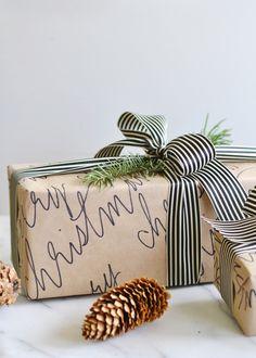 Sharpie & kraft paper DIY calligraphy! From boxwoodavenue.com